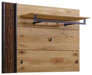 GARDEROBENPANEEL 118/87/35 cm - Eichefarben/Anthrazit, Natur, Holz/Metall (118/87/35cm) - Valnatura