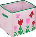 SPIELZEUGBOX 40/35/35 cm - Rot/Rosa, ROMANTIK / LANDHAUS, Textil (40/35/35cm) - MY BABY LOU