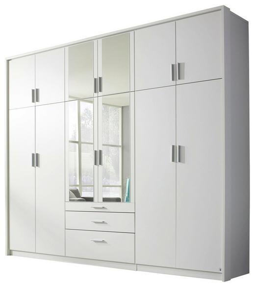 DREHTÜRENSCHRANK 12-türig Weiß - Weiß, Design, Holzwerkstoff/Kunststoff (275/231/56cm) - Carryhome