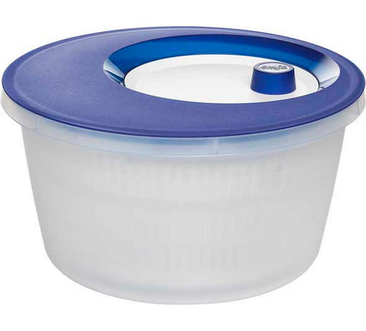 SALATSCHLEUDER - Blau/Weiß, Basics, Kunststoff (4l) - Emsa