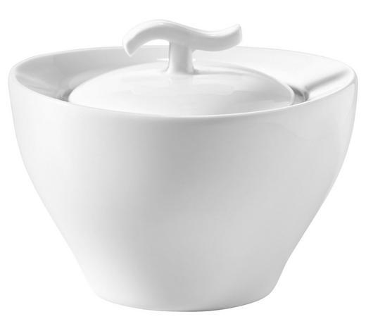 ZUCKERDOSE Keramik  - Weiß, Basics, Keramik (11/9,5/8,5cm) - Novel