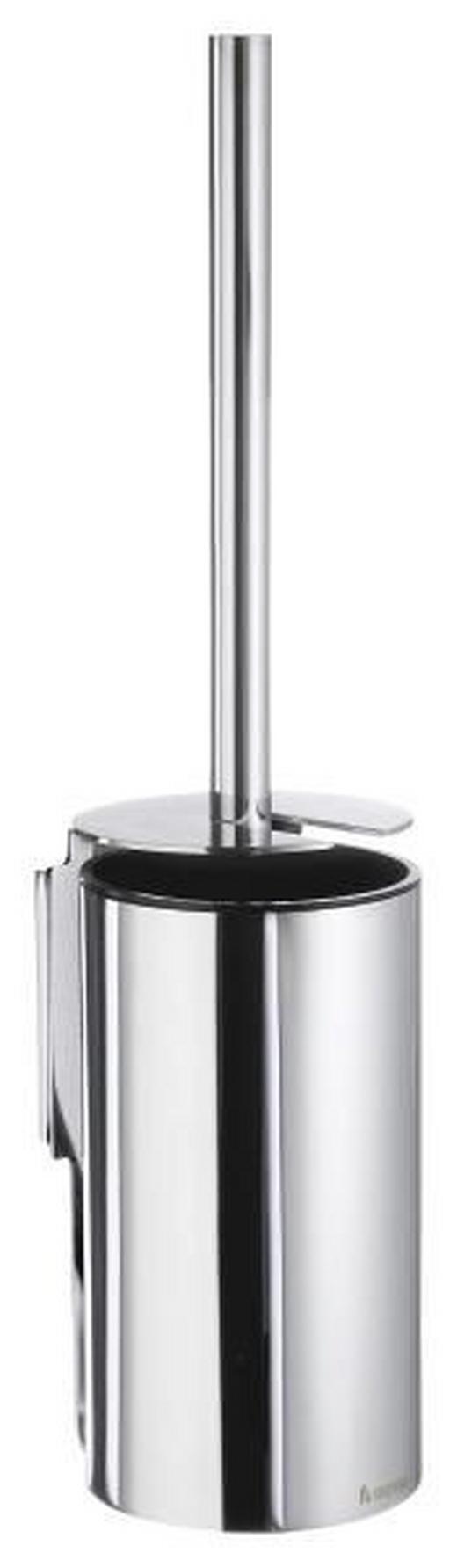 WC-BÜRSTENGARNITUR Kunststoff, Metall - Chromfarben, Basics, Kunststoff/Metall (10,6/44,5/8,9cm)