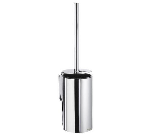 WC-BÜRSTENGARNITUR in Metall - Chromfarben, Basics, Kunststoff/Metall (10,6/44,5/8,9cm)