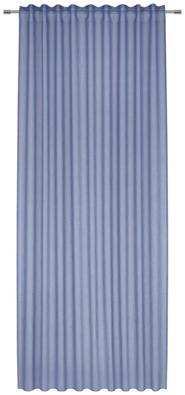 Fertigvorhang transparent - Blau, Basics, Textil (140/300cm) - Esposa