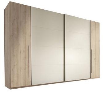 ORMAR - VISEĆA KLIZNA VRATA - Boja bukve/Boja aluminijuma, Dizajnerski, Plastika/Pločasti materijal (315/225/61cm) - Carryhome