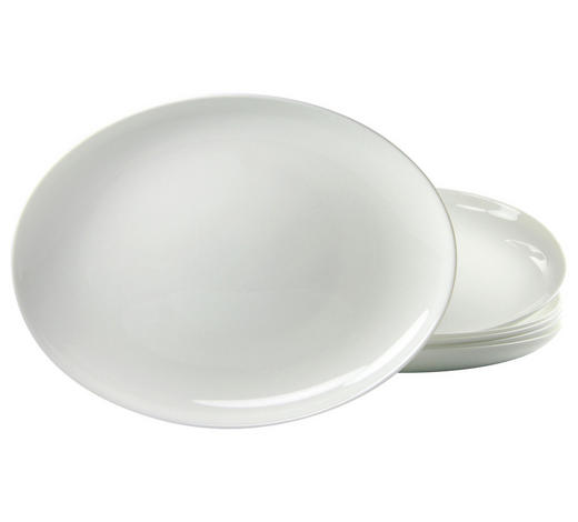 BARBECUETELLERSET PART 33 cm  - Weiß, Basics, Glas (33cm) - Creatable