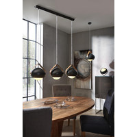 SVÍTIDLO ZÁVĚSNÉ - černá/hnědá, Design, kov/dřevo (95/25,5/110cm) - Dieter Knoll