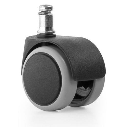 DREHSTUHLROLLE - Schwarz, Basics, Kunststoff (0/0/0cm)
