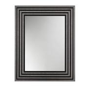 WANDSPIEGEL - Silberfarben/Schwarz, Design, Glas/Holz (74/59/2cm)