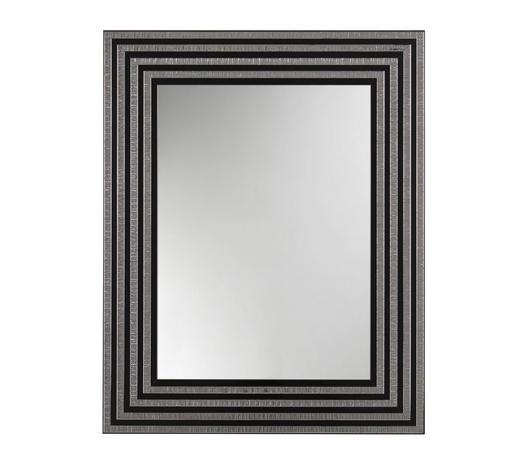 WANDSPIEGEL 74/59/2 cm - Silberfarben/Schwarz, Design, Glas/Holz (74/59/2cm)