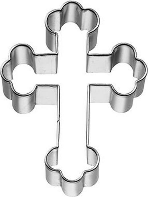 KEKSAUSSTECHFORM - Edelstahlfarben, Basics, Metall (5,5/7,5/2,5cm) - Birkmann