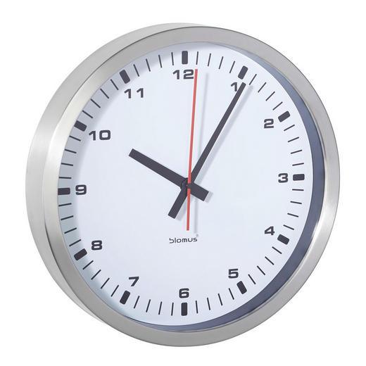 WANDUHR  Weiß 24 cm - Weiß, Basics, Glas/Kunststoff (24cm) - Blomus
