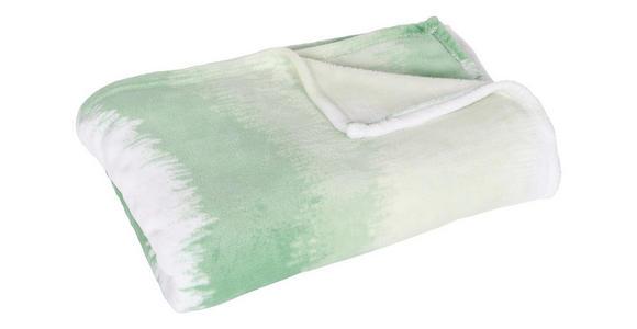 Kuscheldecke Inka - Mintgrün, MODERN, Textil (140/190cm) - Luca Bessoni