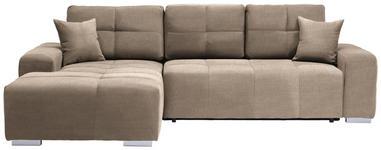 WOHNLANDSCHAFT in Textil Beige  - Beige/Silberfarben, MODERN, Kunststoff/Textil (194/280cm) - Carryhome