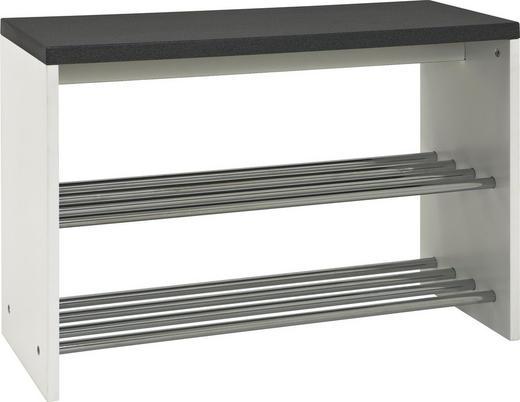 SITZBANK Schwarz, Weiß - Schwarz/Weiß, Design, Holzwerkstoff/Metall (81/55/30cm) - Carryhome
