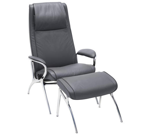 RELAXSESSELSET in Metall, Leder Grau - Grau, Design, Leder/Metall (77/110/74cm) - Stressless you