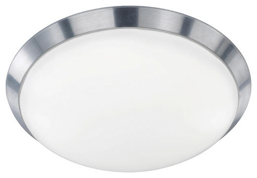 LED-DECKENLEUCHTE - Alufarben, Design, Kunststoff/Metall (40/10,5cm)