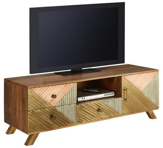 TV-ELEMENT 150/50/45 cm - Silberfarben/Goldfarben, Natur, Holz/Metall (150/50/45cm)