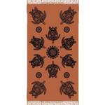 STRANDTUCH 90/180 cm  - Terra cotta/Schwarz, KONVENTIONELL, Textil (90/180cm) - Esposa