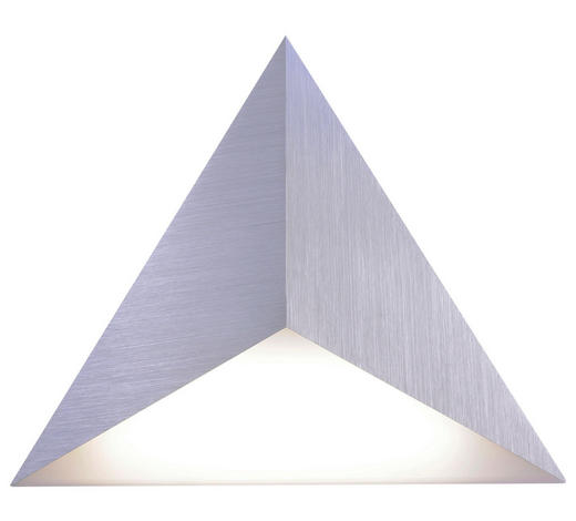 LED-WANDLEUCHTE - Silberfarben, Design, Kunststoff/Metall (35/30/4cm)