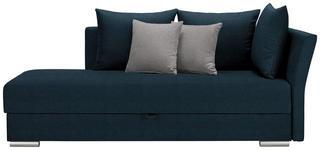 LIEGE in Textil Hellgrau, Petrol - Chromfarben/Petrol, Design, Kunststoff/Textil (220/93/100cm) - Xora
