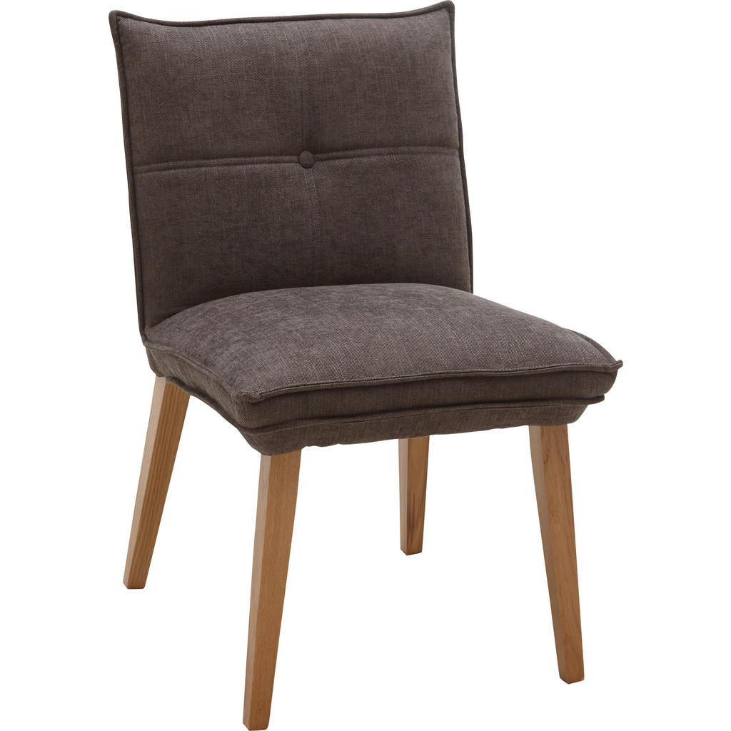 Voleo Stuhl webstoff eiche massiv grau