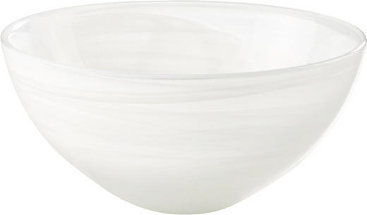 SCHALE Glas - Weiß, Basics, Glas (13/6cm) - LEONARDO