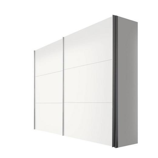 SCHWEBETÜRENSCHRANK 2  -türig Weiß - Alufarben/Weiß, KONVENTIONELL, Holzwerkstoff/Metall (250/216/68cm) - Hom`in