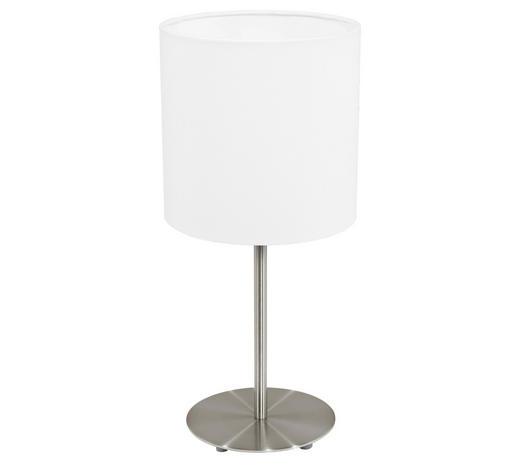 STOLNÍ LAMPA - bílá/barvy niklu, Konvenční, kov/textil (18/40cm)