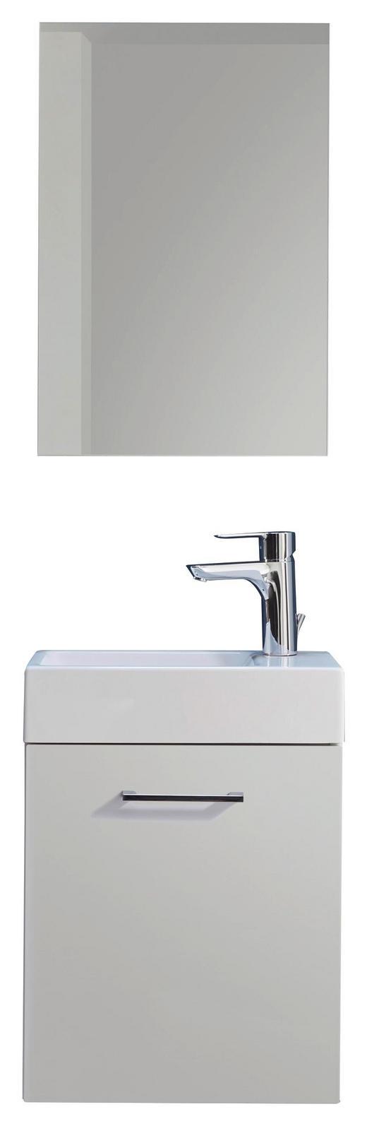 BADEZIMMER - Weiß, Design, Glas/Holzwerkstoff (40cm) - Xora