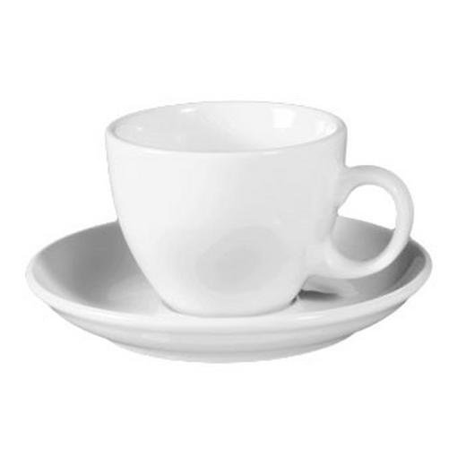 CAPPUCCINOTASSE MIT UNTERTASSE - Weiß, Basics, Keramik (0.22l) - SELTMANN WEIDEN
