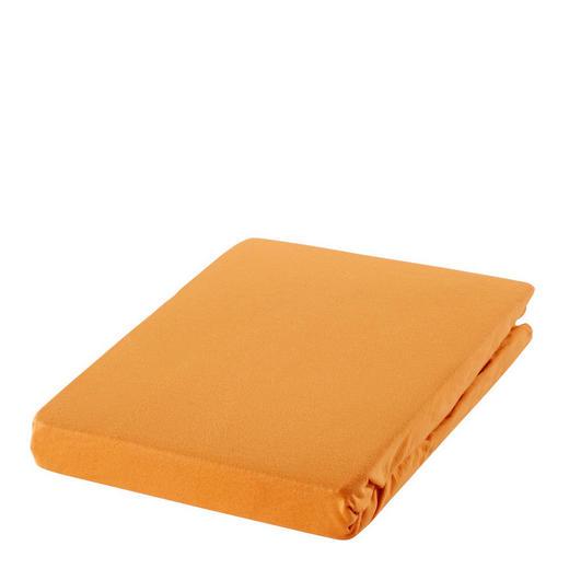 SPANNBETTTUCH Jersey Kupferfarben bügelfrei, für Wasserbetten geeignet - Kupferfarben, Basics, Textil (100/220cm) - Novel