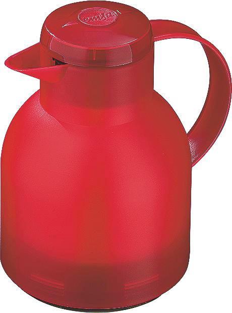 ISOLIERKANNE 1 L - Rot, Basics, Kunststoff (1l) - Emsa