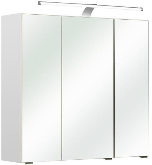 SPIEGELSCHRANK - Weiß, KONVENTIONELL, Glas/Holzwerkstoff (75/70/20cm) - Xora
