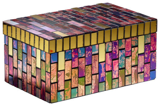 DEKOBOX - Multicolor, Glas (21,5/13,5/10,5cm) - Ambia Home