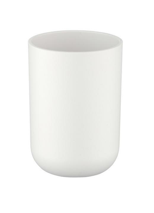ZAHNPUTZBECHER - Weiß, Basics, Kunststoff (10/15cm)