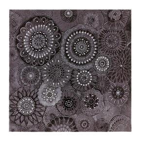 TAVLA - vit/svart, Basics, metall/trä (55/55cm) - Monee