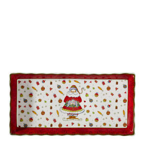 SERVERINGSBRICKA - röd/multicolor, Basics, keramik (33cm) - X-Mas