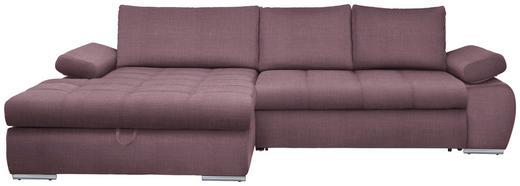 WOHNLANDSCHAFT in Textil Rosa - Chromfarben/Rosa, Design, Kunststoff/Textil (173/294cm) - Carryhome