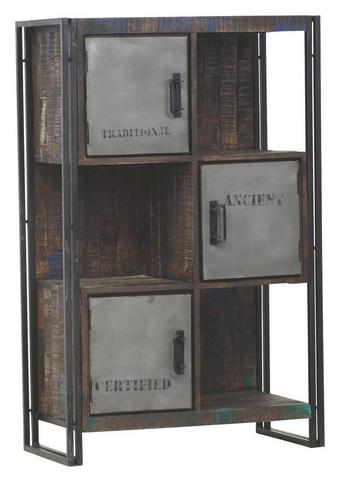 KOMODA - smeđa, Design, drvo/metal (90/140/40cm) - AMBIA HOME