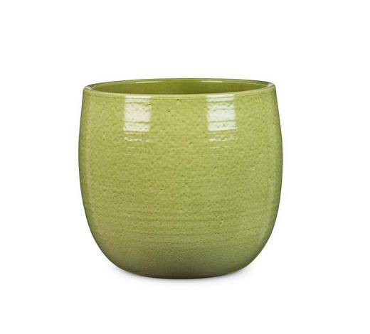 PFLANZENTOPF - Grün, KONVENTIONELL, Keramik (25/25/23cm)
