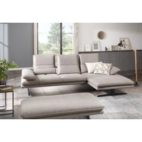 WOHNLANDSCHAFT in Textil Grau  - Schwarz/Grau, Design, Textil/Metall (164/291cm) - Chilliano