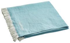 WOHNDECKE 130/170 cm Blau, Weiß  - Blau/Weiß, KONVENTIONELL, Textil (130/170cm) - Ambiente