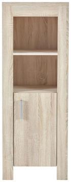 Beistellregal Paula II - Eichefarben/Alufarben, KONVENTIONELL, Holzwerkstoff/Kunststoff (50/136/32cm) - My Baby Lou
