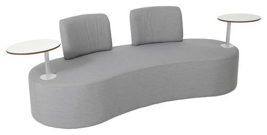 LOUNGESOFA Stahl - Grau, Design, Textil/Metall (190/72/75cm) - AMBIA GARDEN