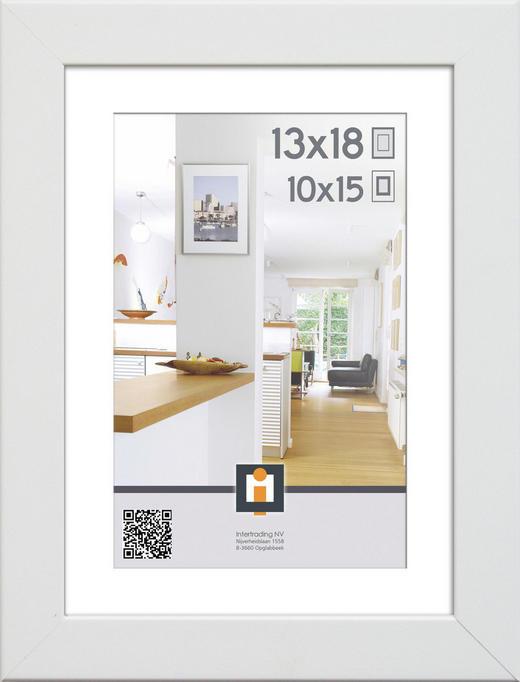 FOTORAM - vit, Basics, glas/plast (18/13/3cm)