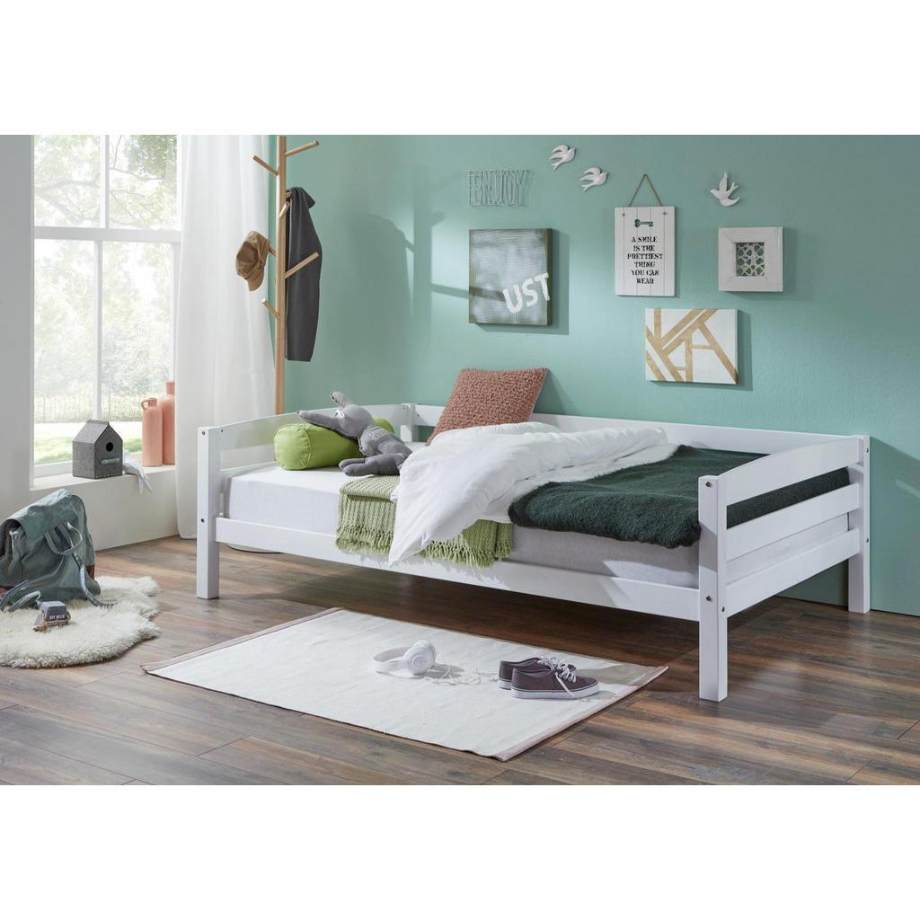 Kinderbett 'Nora' aus massivem weißem Buchenholz