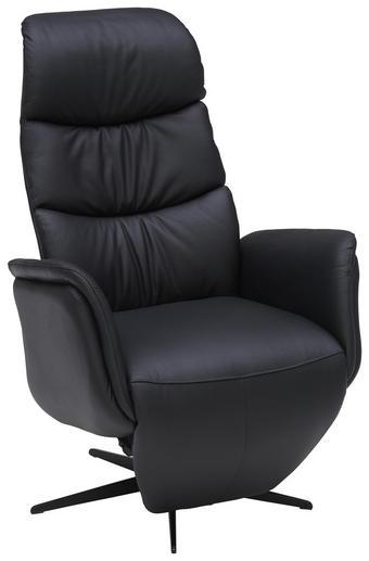 RELAXAČNÍ KŘESLO - černá, Design, kov/kůže (0/0/0cm) - Welnova