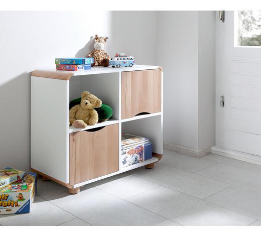 REGAL in Naturfarben, Weiß - Buchefarben/Naturfarben, Design, Holz/Holzwerkstoff (74,5/40/64,5cm)