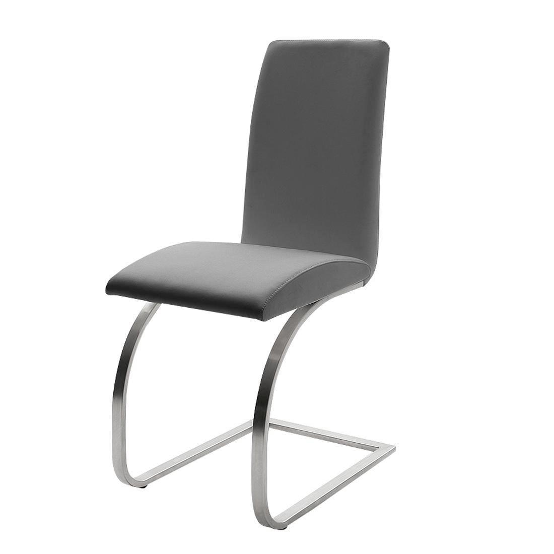 SCHWINGSTUHL Edelstahlfarben, Grau - Edelstahlfarben/Grau, Design, Textil/Metall (43/97/58cm) - NOVEL